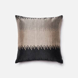 Loloi Embroidery Details Pillow P0124 Black - Silver