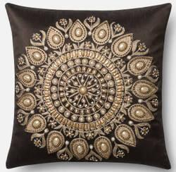 Loloi Pillow P0439 Brown - Gold