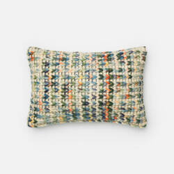 Loloi Solid Texture Pillow P0226 Green - Multi