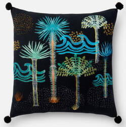 Loloi Pillow P0478 Black - Multi