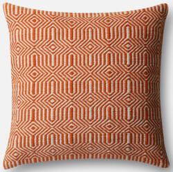 Loloi Pillow P0339 Orange - Ivory
