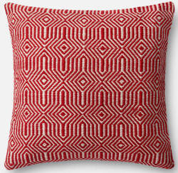 Loloi Pillow P0339 Red - Ivory
