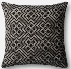 Loloi Pillow P0499 Black - White