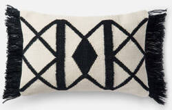 Loloi Pillow P0503 Black - Ivory