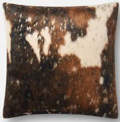 Loloi Pillows P0521 Dark Brown - Gold