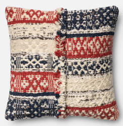 Loloi Pillow P0377 Red - Blue