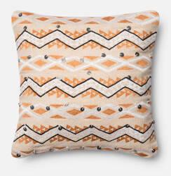Loloi Pillow P0401 Orange - Ivory