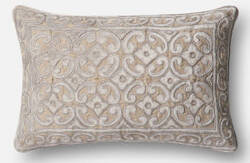 Loloi Pillow P0491 Silver - Taupe