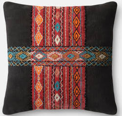 Loloi Pillow P0495 Black - Multi