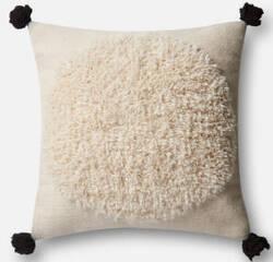 Loloi Pillow P0483 Ivory - Black