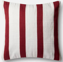 Loloi Pillow P0507 Red - Ivory