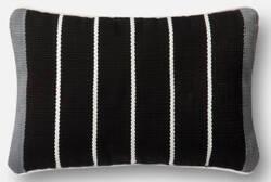 Loloi Pillow P0508 Black - Grey
