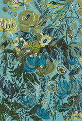 Loloi Wild Bloom Wv-03 Aqua - Green Area Rug