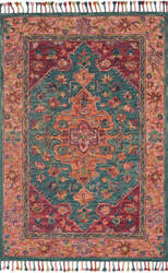 Loloi Zharah Zr-05 Teal - Berry Area Rug