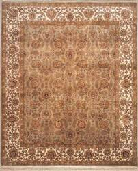 Lotfy and Sons Majestic 205 Light Green/Ivory Area Rug
