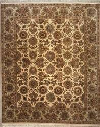 Lotfy and Sons Majestic S-19 Cream/Light Green Area Rug