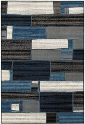 Lr Resources Adana 80374 Charcoal - Blue Area Rug
