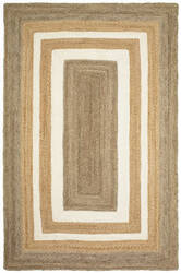 Lr Resources Classic Jute 81208 Gray - Bleach Natural Area Rug