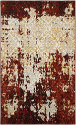 Lr Resources Matrix 81159 Burgundy - Cream Area Rug