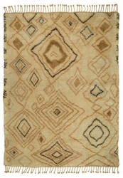 Lr Resources Morccan 04424 Ivory - Gold Area Rug