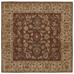Lr Resources Shapes 5r104 Brown - Gold Area Rug