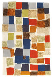 MAT Orange Vivant Patch Multi Area Rug