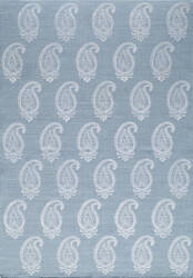 Momeni Lace Embroided Lac-1 Soft Blue Area Rug