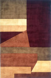 Momeni New Wave Nw-19 Wine Area Rug