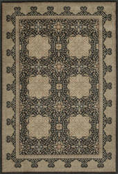 Momeni Encore Ec-12 Black Area Rug