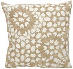 Nourison Mina Victory Pillows A0004 Ivory