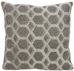 Nourison Mina Victory Pillows A0029 Grey Pewter
