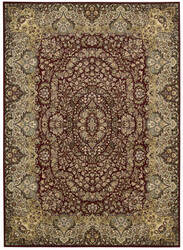 Kathy Ireland Ki11 Antiquities Ant05 Burgundy Area Rug