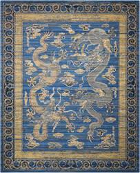 Nourison Bbl16 Dynasty Dyn06 Azure Blue Area Rug