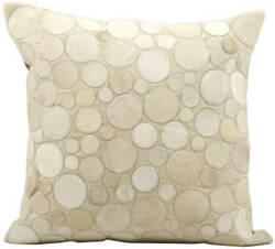 Nourison Pillows Natural Leather Hide C2300 Beige