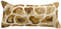 Nourison Pillows Cowhyde C2600 Amber