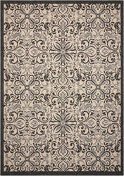 Nourison Caribbean Crb12 Ivory - Charcoal Area Rug