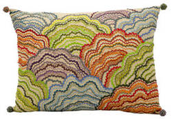Nourison Pillows Fantasia Cm261 Multicolor