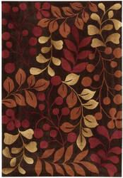 Nourison Contour CON-02 Chocolate Area Rug