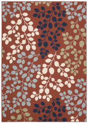 Nourison Carribean Crb01 Rust Area Rug