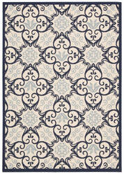 Nourison Caribbean Crb02 Ivory - Navy Area Rug