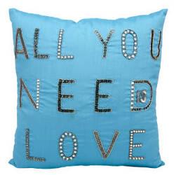Nourison Luminescence Pillow E3617 Turquoise