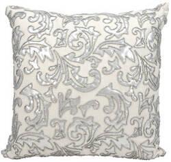 Nourison Pillows Luminescence E5555 Silver