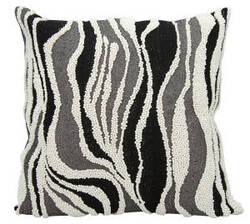 Nourison Luminescence Pillow E6193 Black Silver