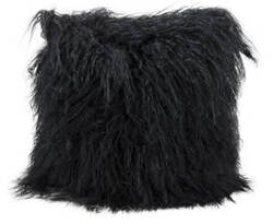 Nourison Pillows Fur F7100 Black
