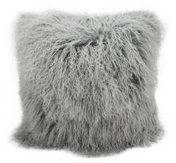 Nourison Pillows Fur F7101 Silver Grey