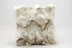 Nourison Pillows Fur F7105 Silver