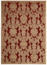 Nourison Graphic Illusions Gil03 Red Area Rug