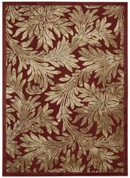 Nourison Graphic Illusions Gil19 Red Area Rug