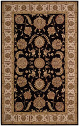 Nourison Heritage Hall He19 Black Area Rug