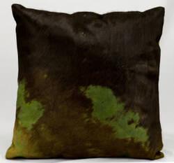 Nourison Pillows Natural Leather Hide Ik010 Green